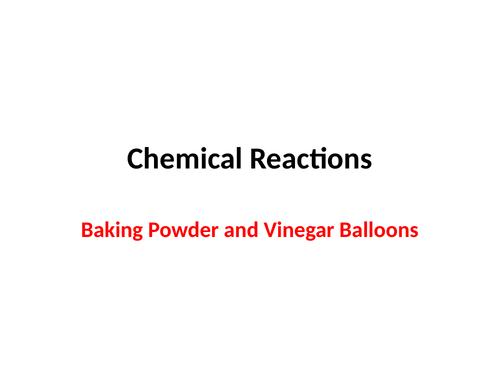 Vinegar & Baking Powder Balloons Experiment