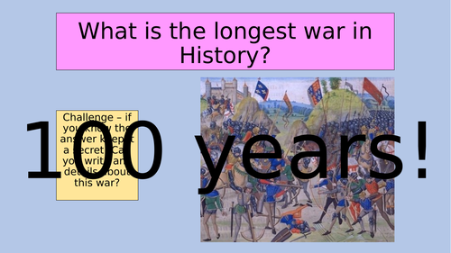 Causes of the 100 year war