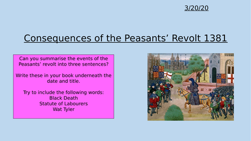Consequences of the Peasants Revolt