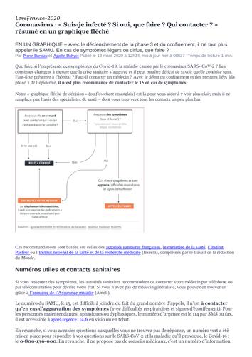 French news article coronavirus