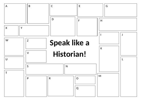 Speak like a Historian Worksheet