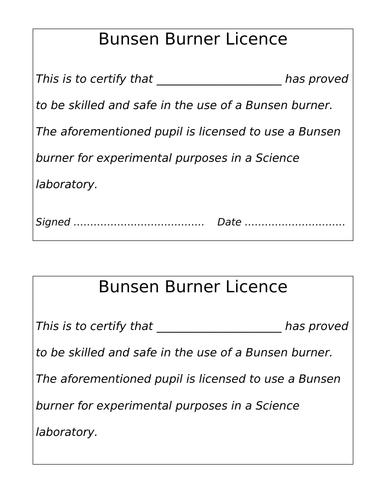 Bunsen Burner Lesson