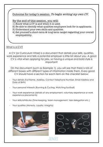 CV Building Lesson Handout