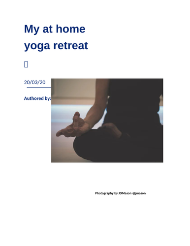 At Home Yoga Retreat ♡
