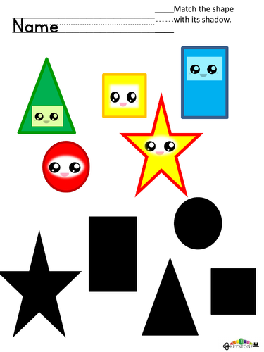 Shape and shadow matchng EYFS 3-5 YEARS