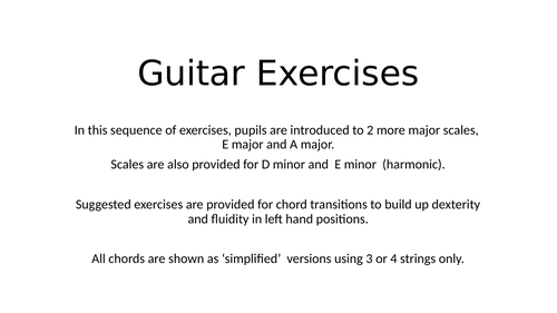 Beginners Guitar Scales and Chords (2)