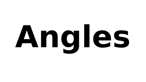 Small summary on how to name angles