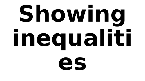 Small summary on how to show inequalities