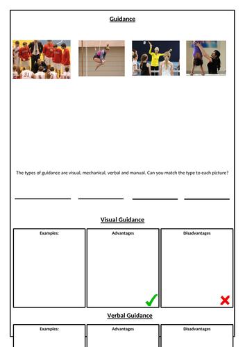 Guidance in Sport