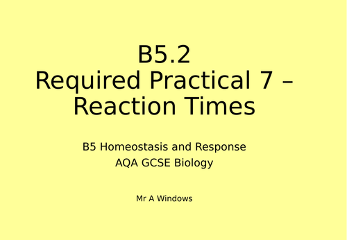 B5 Homeostasis and Response - AQA GCSE Combined Science (9-1)