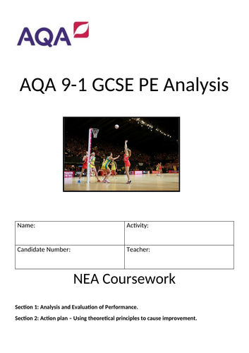 GCSE PE Coursework Guidance - Home Learning