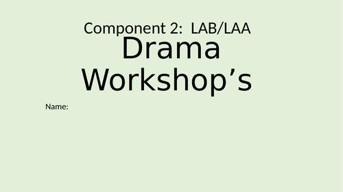 Comp 2 Performing Arts - Blood Brother workshops
