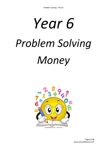 Maths Problem Solving Bundle for Year 6 - Money