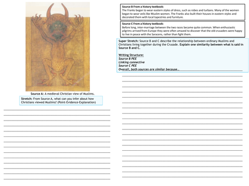 Revision Clock and Practice Question Crusades KS3