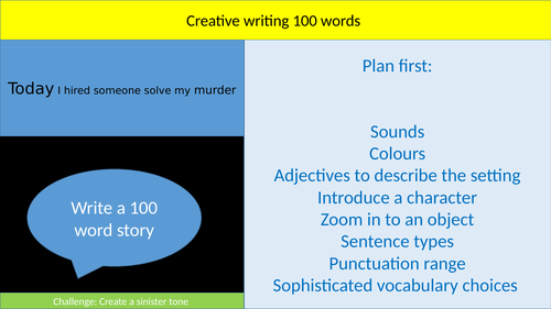 100 word challenges