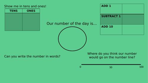 Number of the Day Activity Sheet KS1 KS2