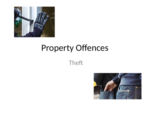 Property Offences - Theft