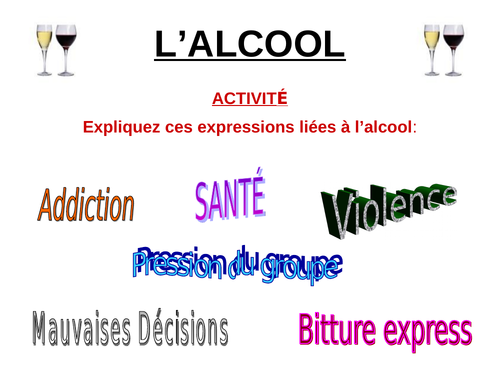 CLIL - ALCOHOL THE ISSUE