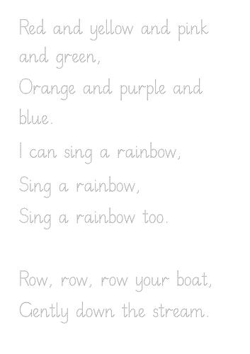 Nelson Nursery Rhymes Handwriting Pack