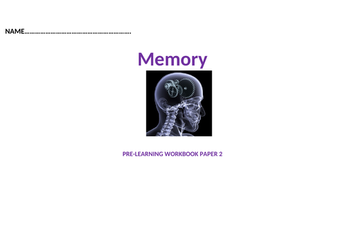 AQA Psychology Guided note taking book memory
