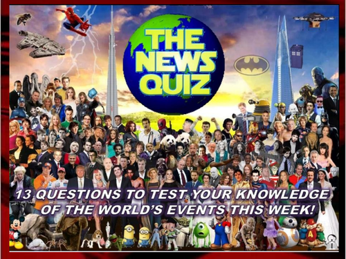 CURRENT WEEK The News Quiz 30th March - 6th April 2020 Form Tutor Time Current Affairs