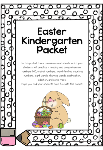 Easter Kindergarten Packet