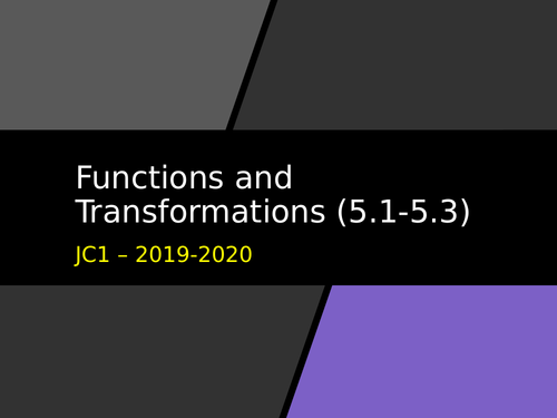 Functions and Transformations - As Level
