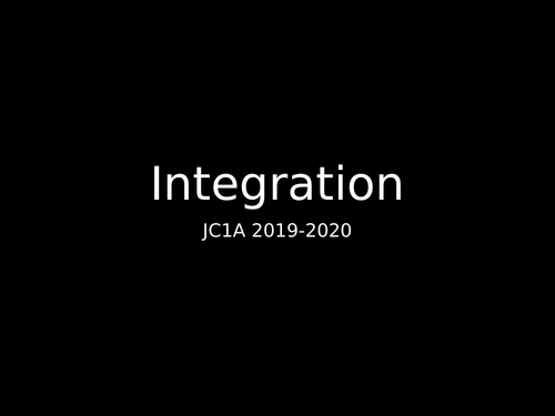 Integration (Additional Maths 0606 and As Level 9709)