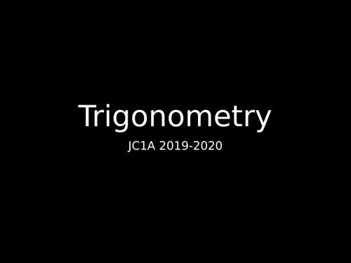 Trigonometry - As level