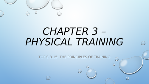 Principles of Training & Thresholds