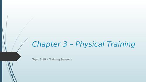 Training Seasons