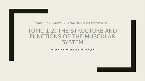 Muscle Movement and Contractions
