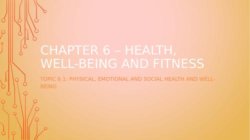 Physical, Social, Emotional Health