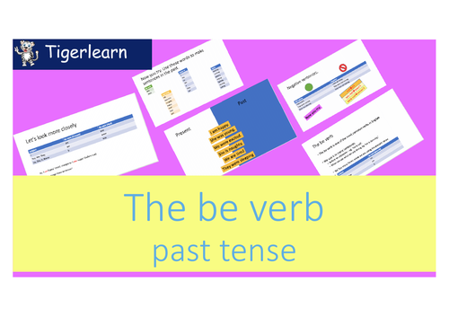 Was Were - Be Verb in past tense introduction