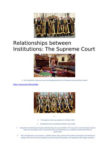 Sway on UK Supreme Court