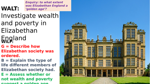 Wealth and Poverty in Elizabethan England