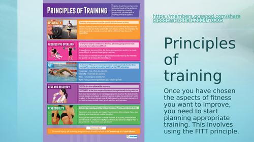 Level 2 BTEC Sport - Unit 1 - Principles of training lesson powerpoint