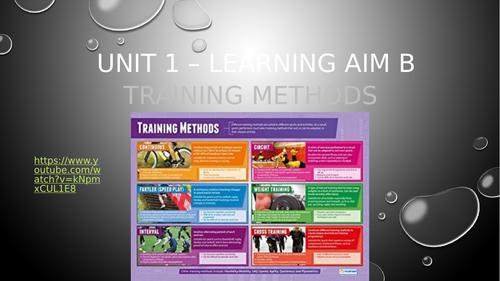 Level 2 BTEC Sport - Unit 1 - Training methods lesson powerpoint