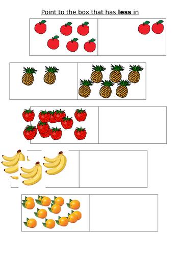 Nursery Maths sheets   number, shape,size, pattern