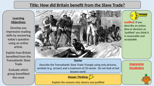 How did Britain benefit from the Slave Trade?
