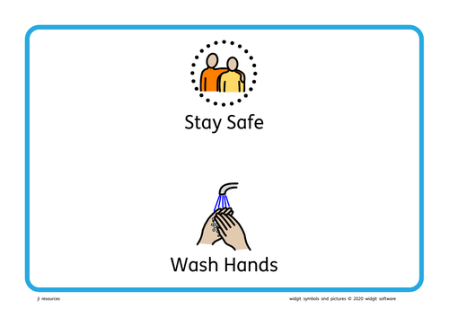 Covid-19 Stay Safe Wash Hands Poster