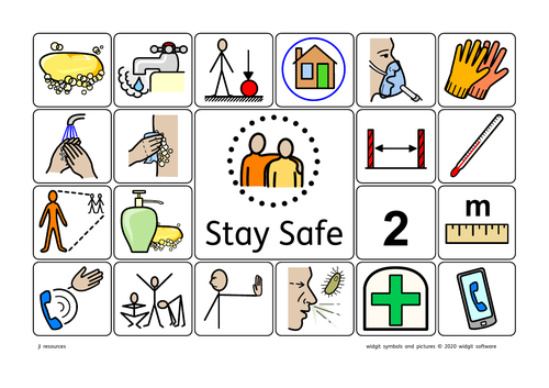 Covid-19 Symbols for Staying Safe