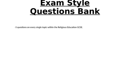 AQA Christianity, Buddhism and Themes Exam Question Bank