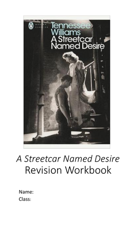 A Streetcar Named Desire Revision Workbook A Level Home Study