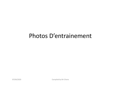 French Lang B 2020 SL Individual Oral -Stimuli / Photos Set 2