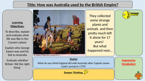 British Colonisation of Australia - Transportation