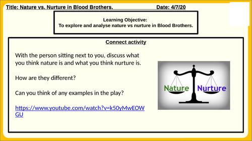 Blood Brothers Nature Vs. Nurture.