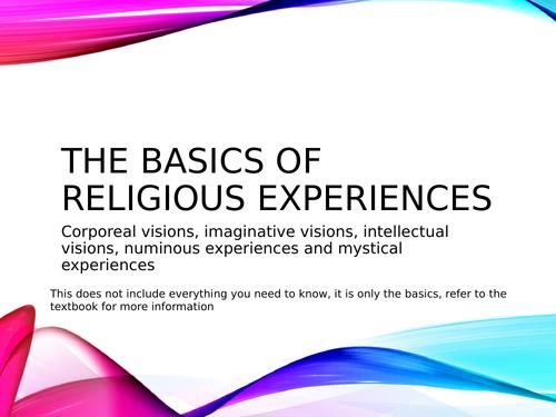Religious Experiences Ppt - AQA Religious Studies