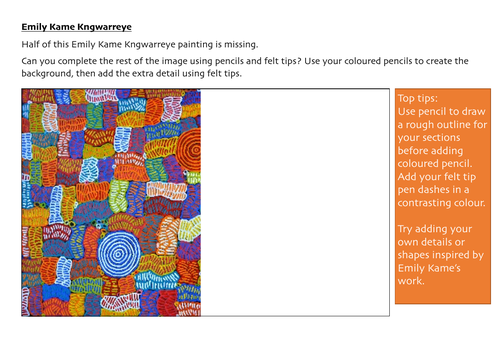 Emily Kame Kngwarreye Bio and Worksheet