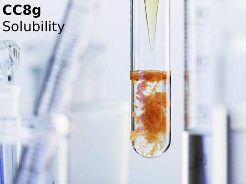 Edexcel CC8g Solubility
